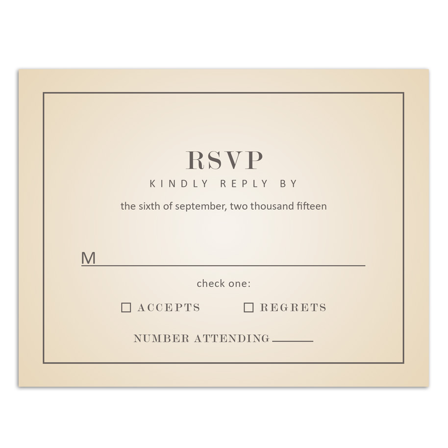 HP Wedding 007 RSVP