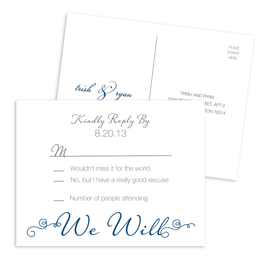 Wedding RSVP 003 - Postcard