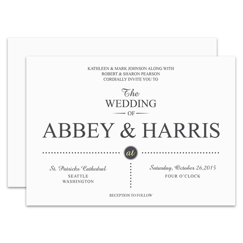 HP Wedding 017 Invite