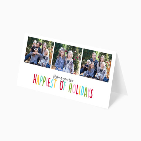 "9x4"" Holiday Card 