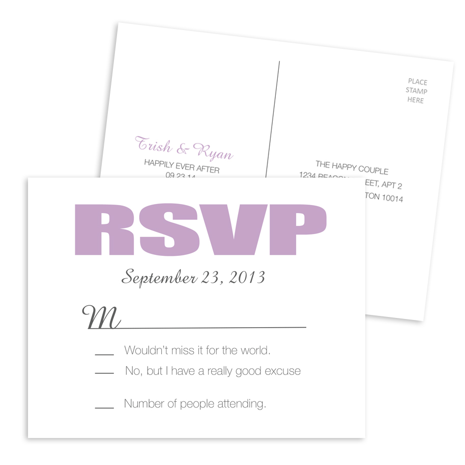 Wedding RSVP Postcard 004