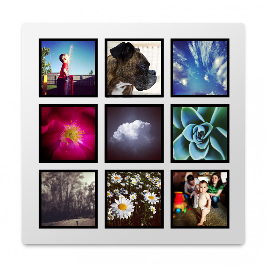 8x8 Metal Print Collage 001