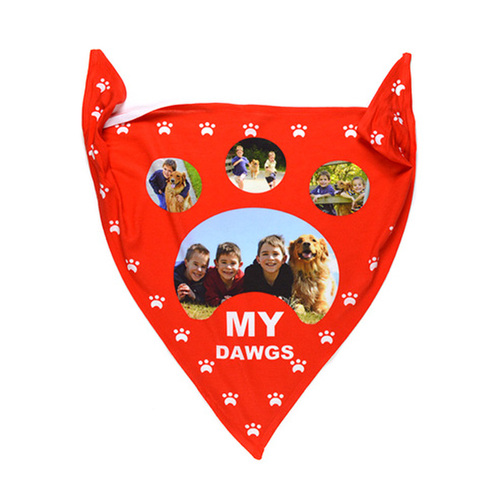 Dog Bandana - text